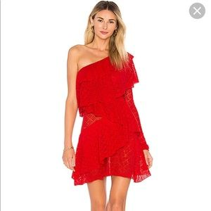 Red House of Harlow 1960 X Revolve Aries Dress